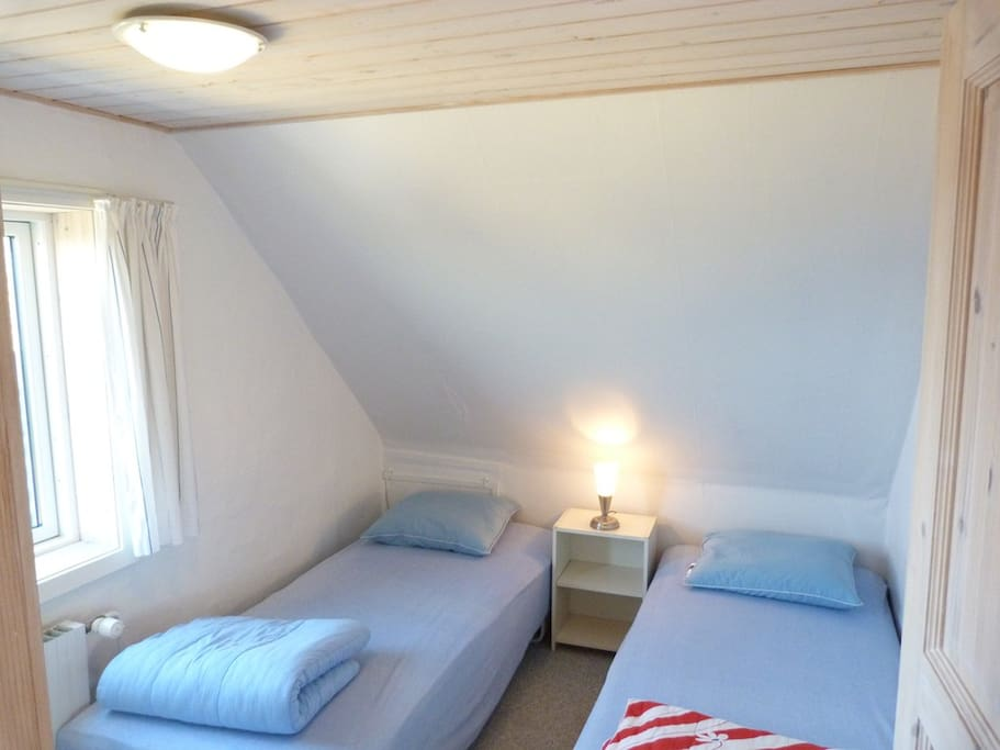 Bedroom 3, from which there is view of Baltic sea