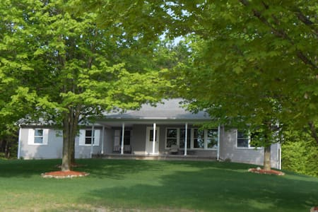 Location is key.  If you want to enjoy Sleeping Bear Dunes, beautiful Leelanau County and all the fun and activities of Traverse City, this is the place to stay.  We are central to all these places and yet secluded, quiet, roomy  and comfortable.