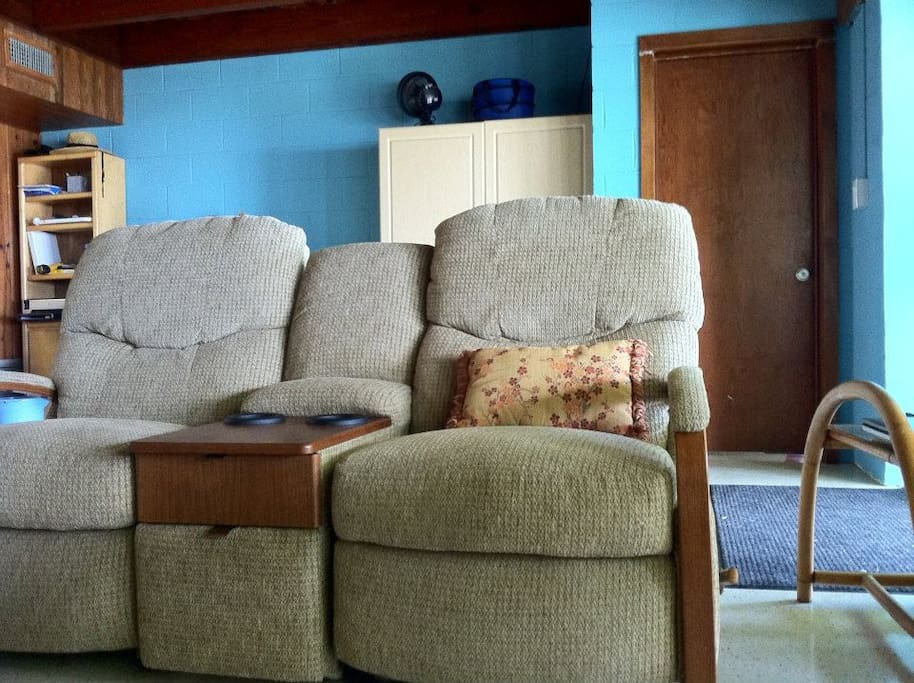 Double Recliner Chairs in living area.