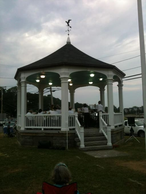 Free concert series from July 1-August 31 at the Bandstand across from Back Beach in Rockport