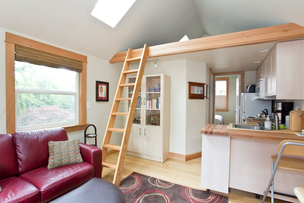 The loft with ladder for a 3rd person or if the kids can handle it without a railing