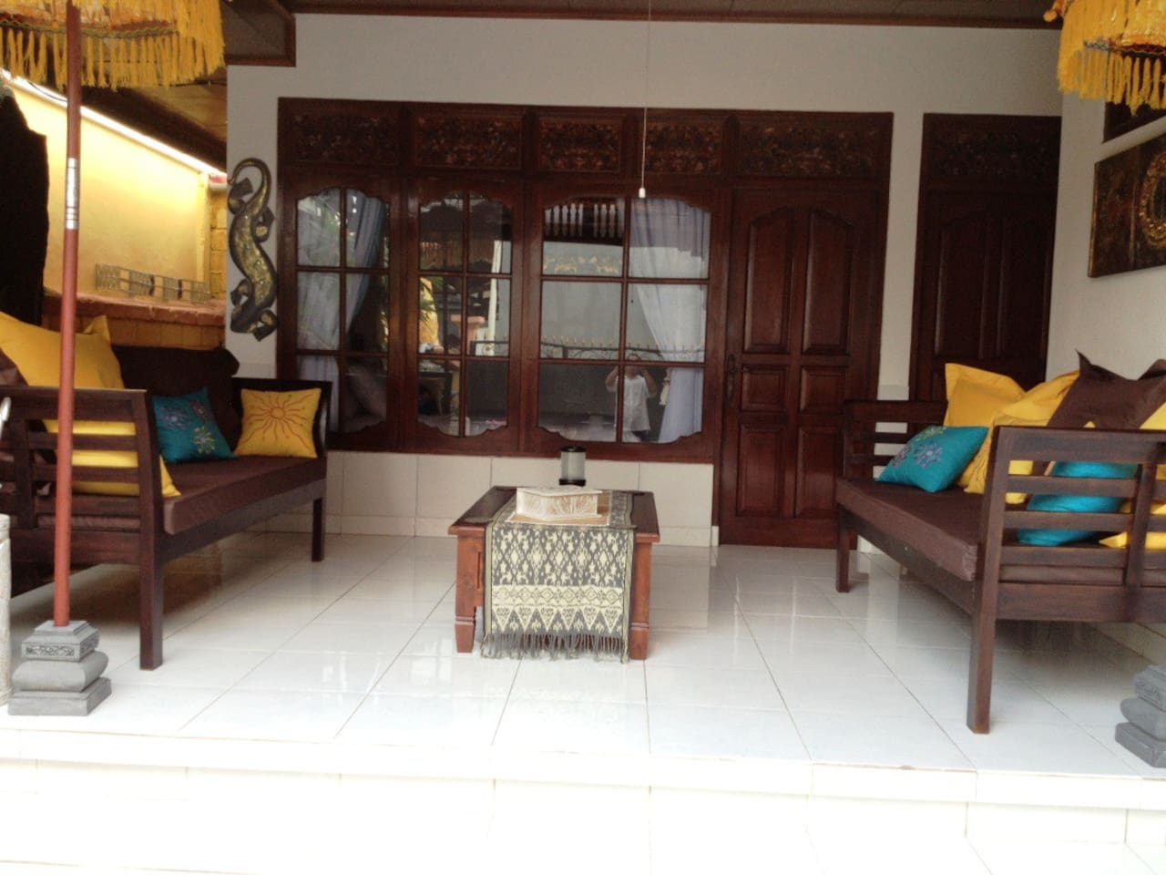 Veranda with daybeds