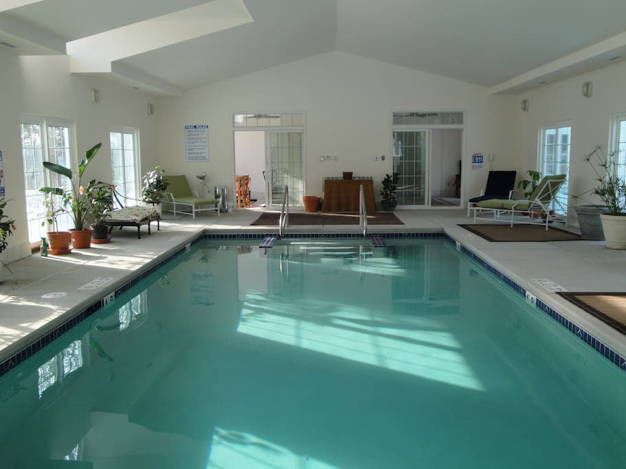 Our indoor heated swimming pool is a great place to exercise or relax.
