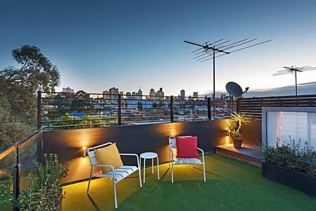 Rooftop Garden Townhouse in Fitzroy