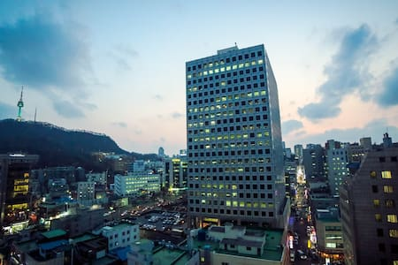 2_Myeong-dong(明洞)/1Min.Stn+Egg_NTowerView Cozy Apt - Jung-gu - Apartment