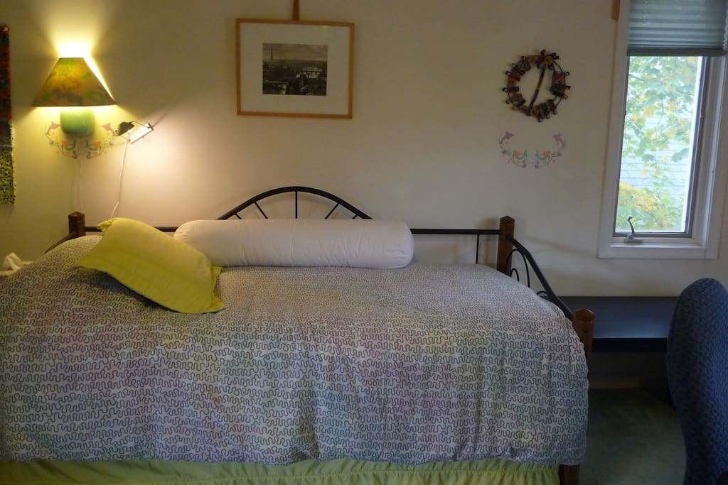 Upstairs Rm-1 has 2 single beds (trundle).
