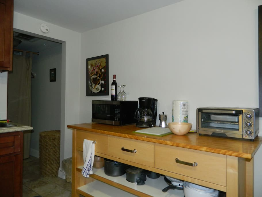 coffee makers, toaster oven and micro -wave oven