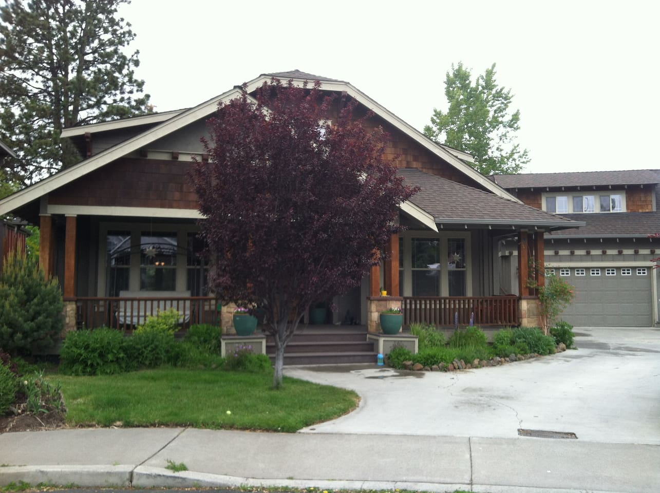 Welcome to a warm, cozy, centrally located, Bend, craftsman Home!  A guest studio apartment awaits you with a separate enterance!