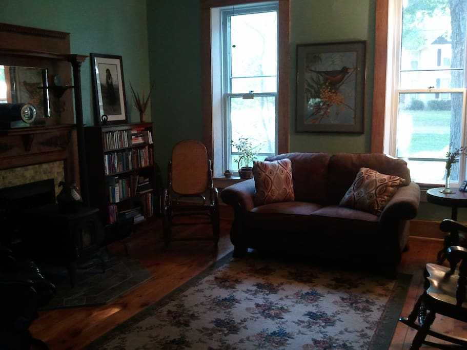 The parlor is available for our guests to use while staying with us.
