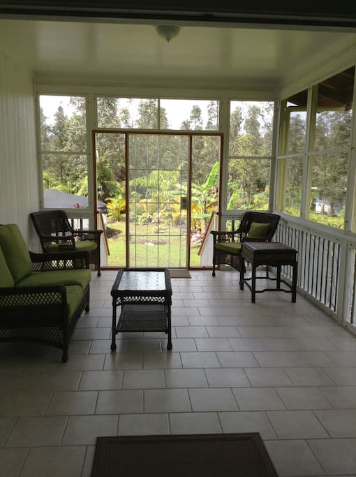 Outdoor screened in lanai