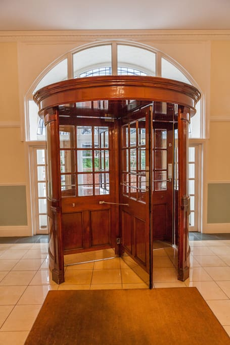 120 year old revolving door, still going round smoothly- That's Class!  :-)
