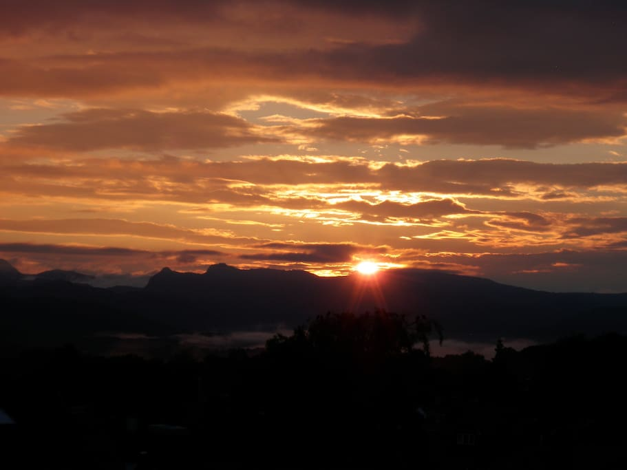 Spectacular sunset from Orrest Head, Windermere.