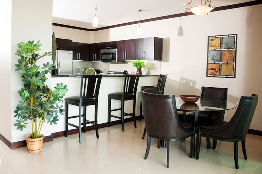 Great breakfast bar and separate dining area