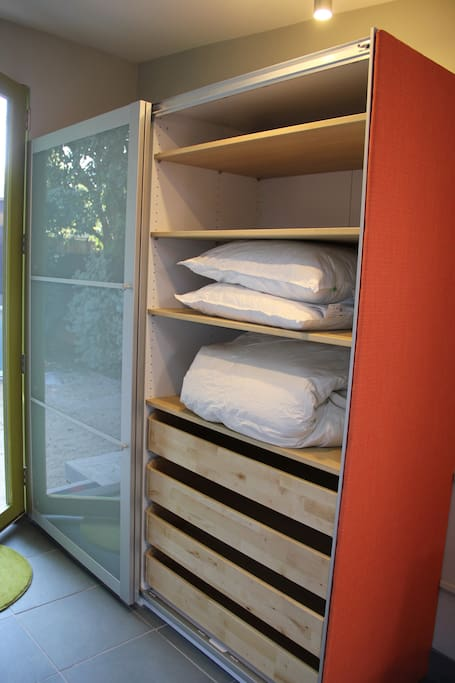 Plenty of closet space and storage.