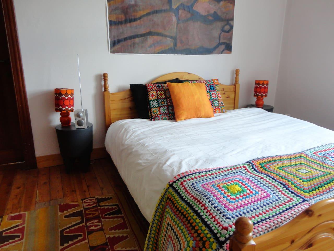 double bedroom second floor - the bed is 1m60