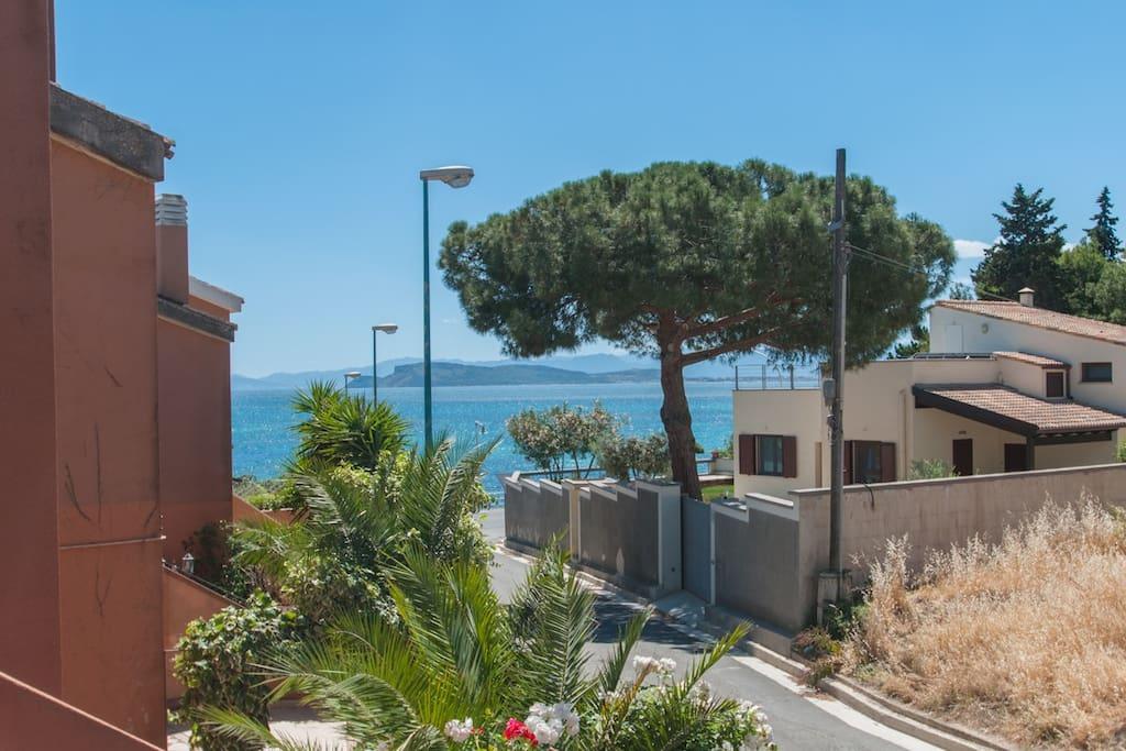 Sea-view from Villa Gari (just 30 mt far from Poetto Beach)