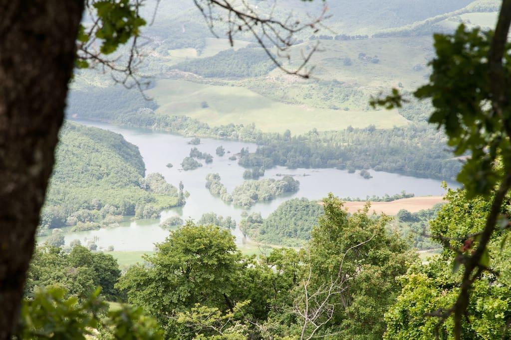 vista panoramica sul Chiascio