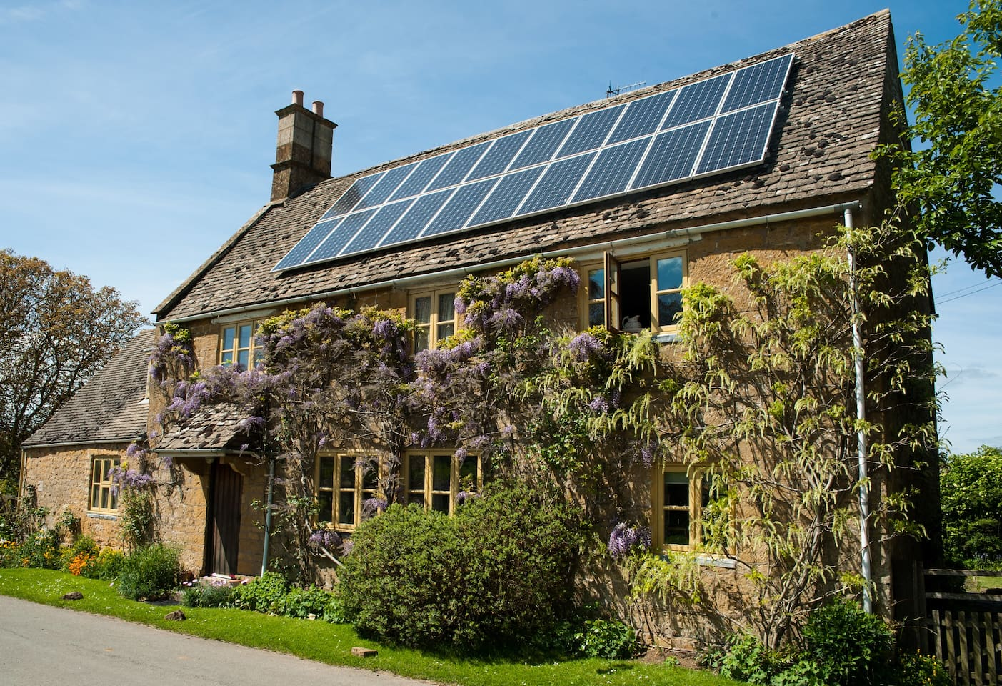 The Old House - in late May and with the scent of the wisteria it is really lovely!