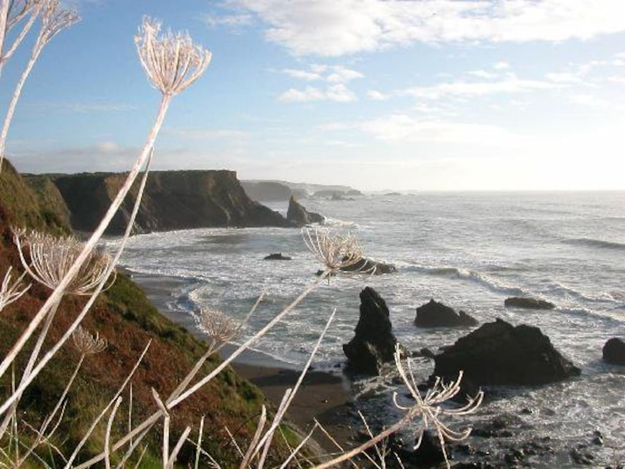 View from the cliffs in Annestown