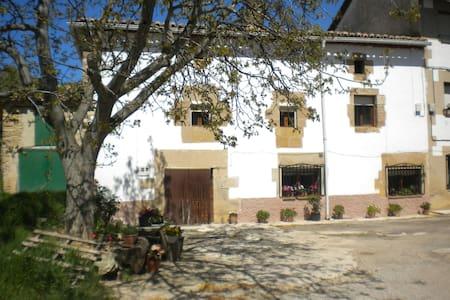 Casa con chimeneas y terraza cubierta - Casa