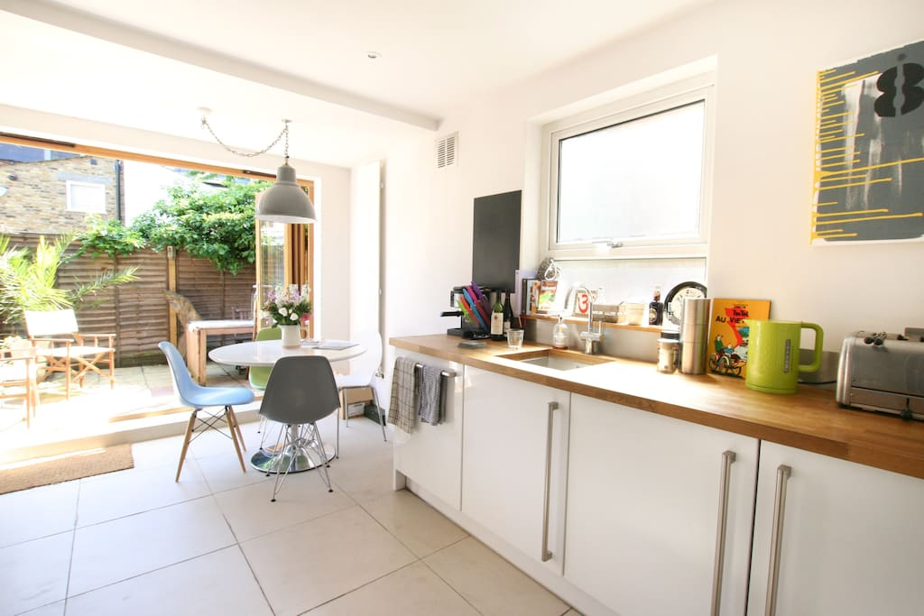 Spacious bright kitchen to start your day