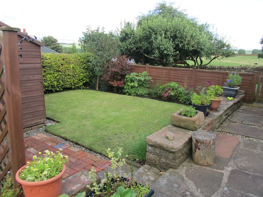 Garden with views to the Pennines