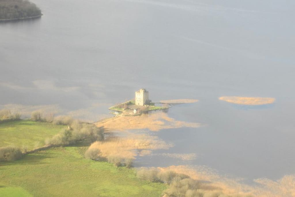 Castlebawn Island from the air.