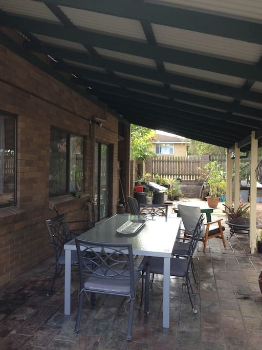 Back patio accessed from lounge area
