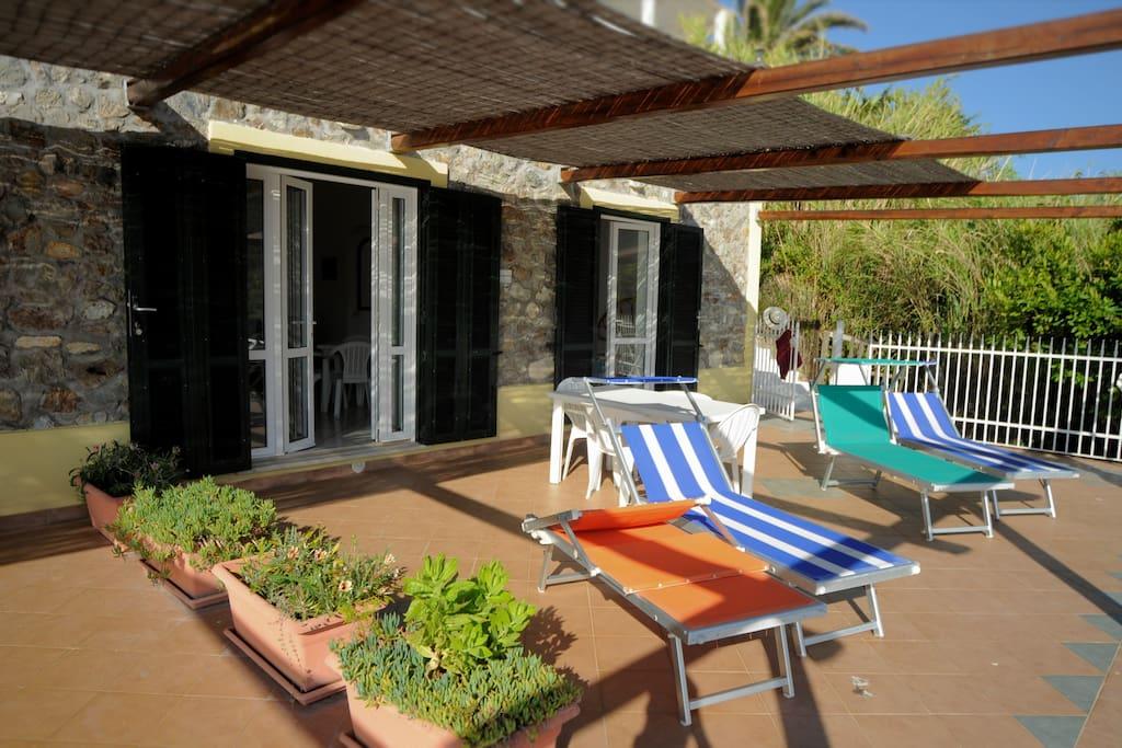 Your terrace at Palmarola Bay View.