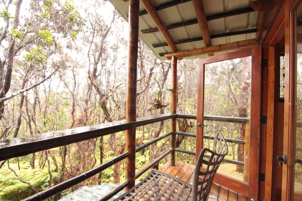 Upper lanai, outside bedroom