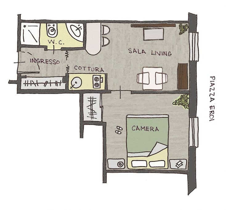 sanremoholidays, map of the flat