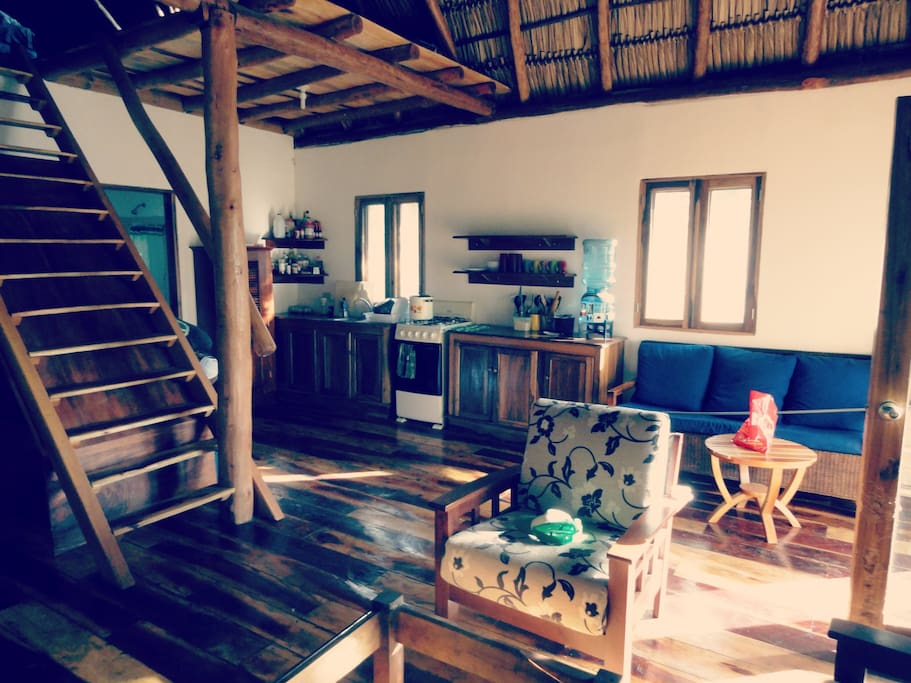 Upstairs loft is great for yoga or extra sleeping space