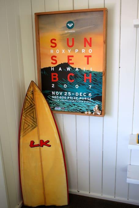 Surf decor.