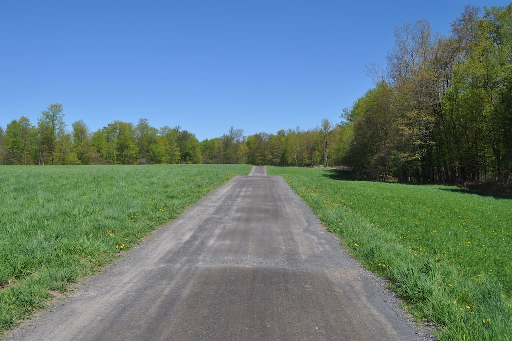 We're down this road about a mile through field and woods.  Almost there.