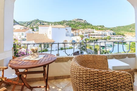 The apartment is the beautiful Poltu Quatu, in the beautiful Costa Smeralda only 2 miles away from Porto Cervo. The apartment is tastefully furnished with contemporary high-quality furniture.A charming balcony with a view on the arbour.