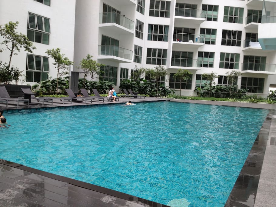 pool at regalia services apartment