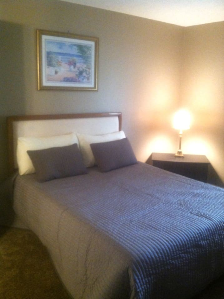 Masterbed room with private bath and queen bed