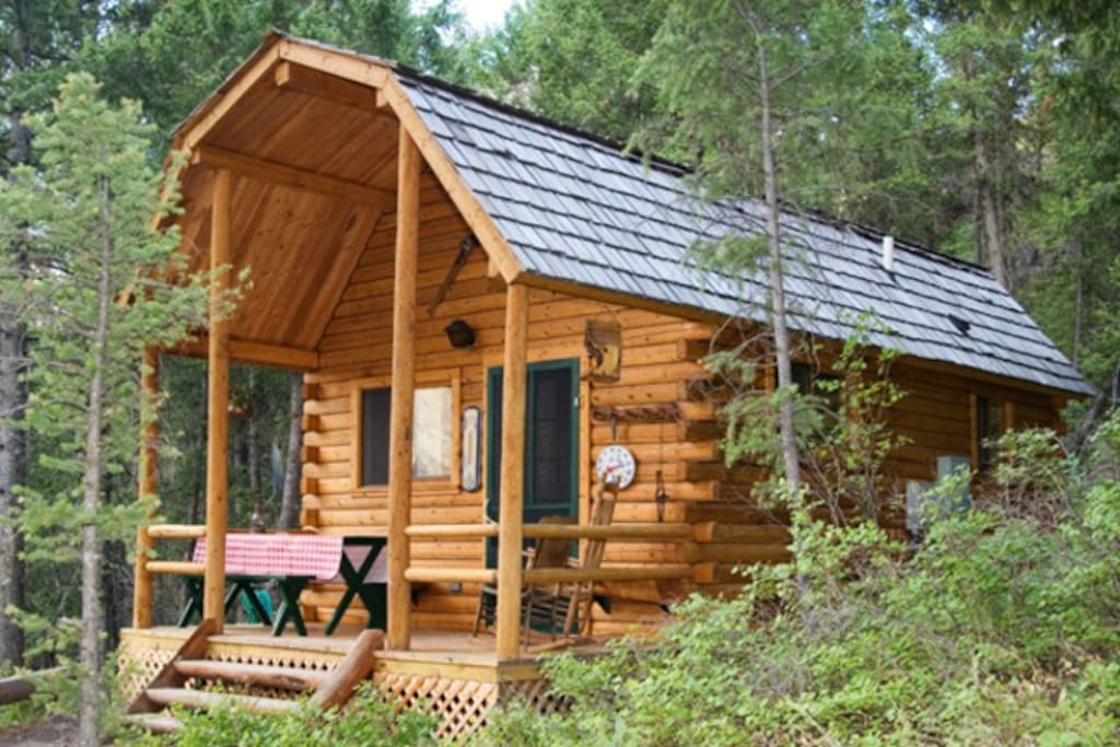 Log Cabin At Wm Lake Salmon Id Cabins For Rent In Salmon