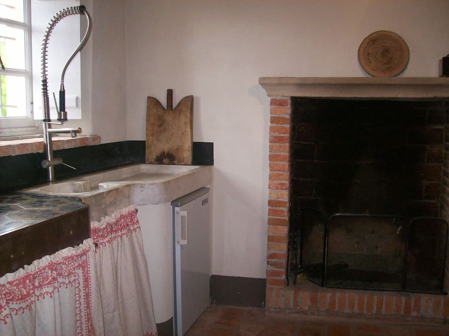 The kitchen on the first floor