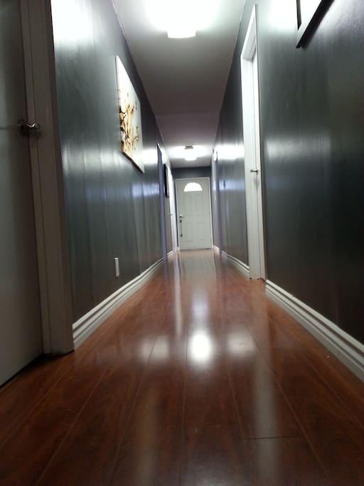 Down stairs hallway