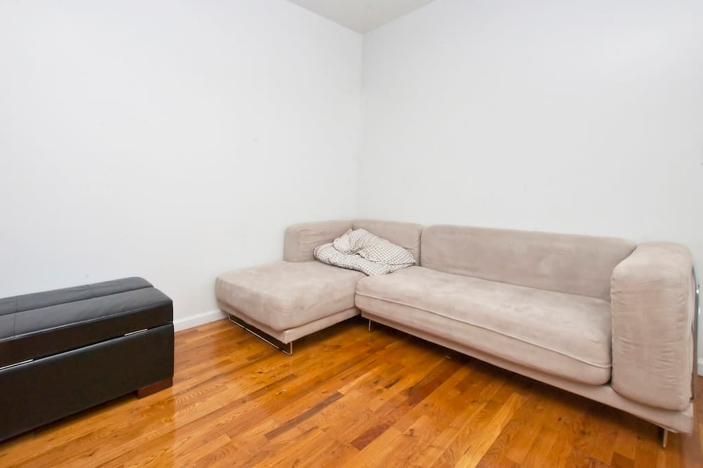We are currently looking to purchase more furniture, so our living room no longer has this couch.