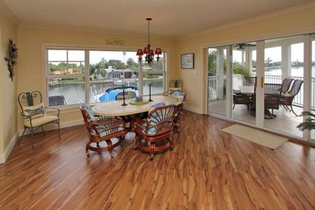 with a stunning view of the intracoastal waterway.