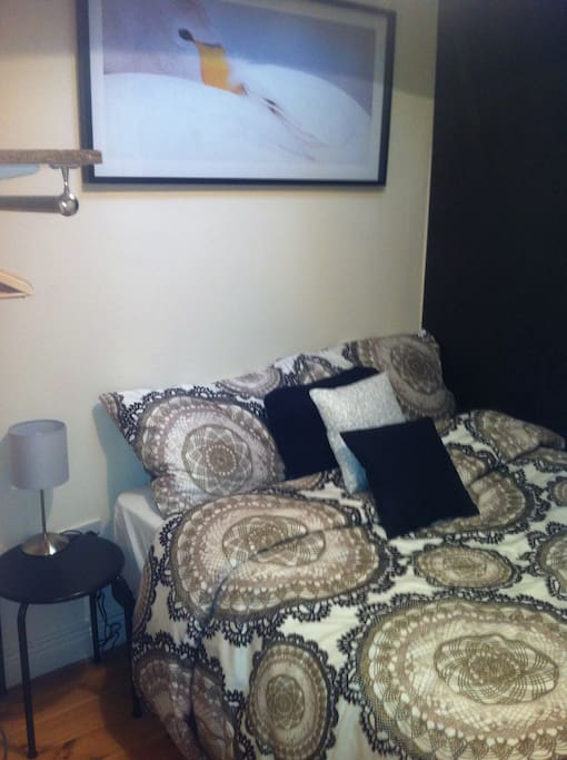 One of the 2 bedrooms in the apartment