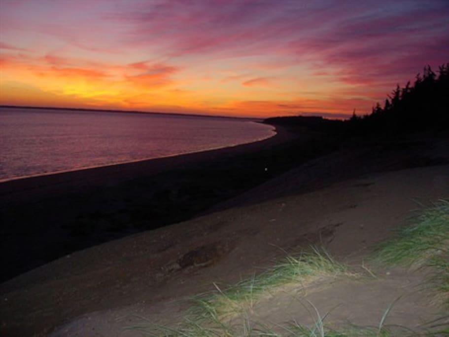 Solnedgang over Vesterhavet - du finder ikke noget smukkere