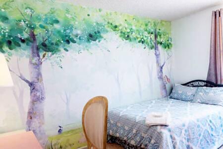 Spacious Sunny Forest Room - Fremont - Maison de ville