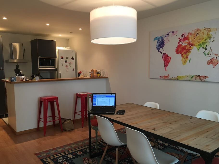 Kitchen and dinning room