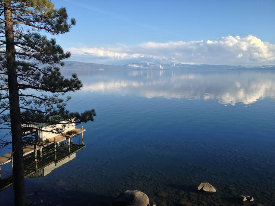 View of Tahoe from deck