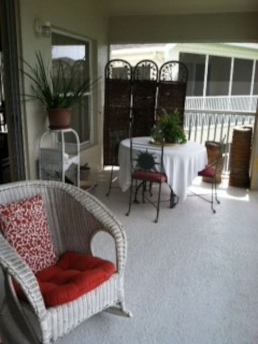 Lots of porch seating
