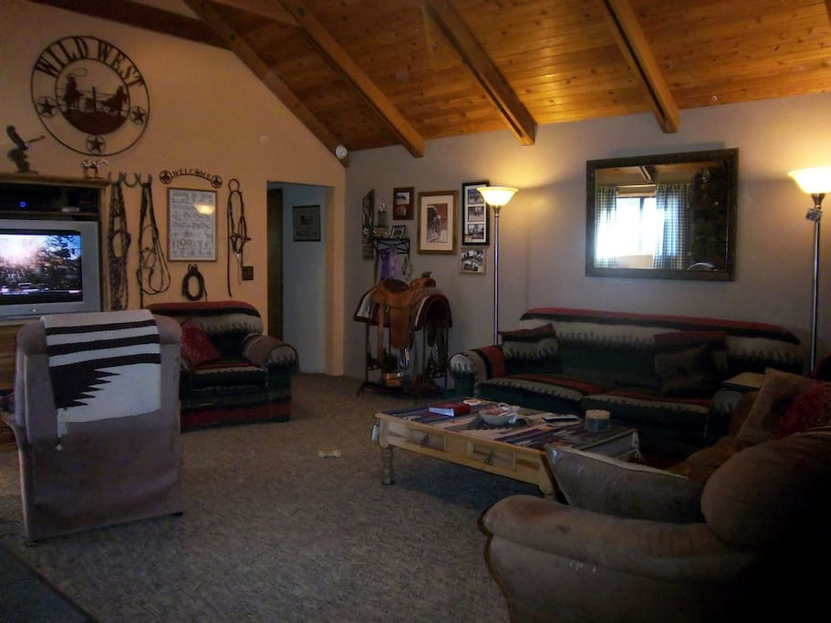 The living room, aka The Tack Room...