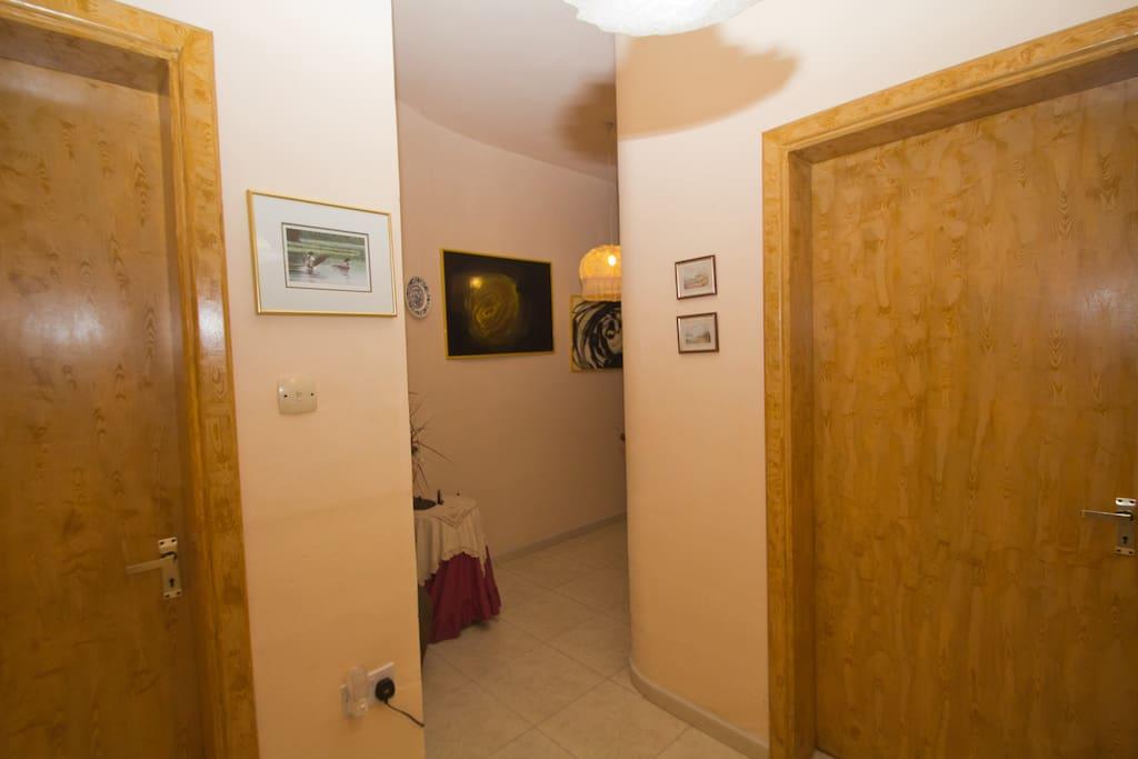 Corridor and doors to en-suites